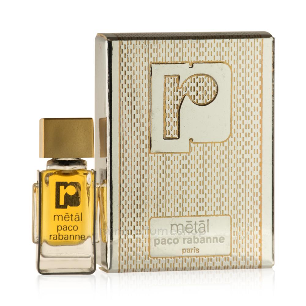 Mini perfume Metal Rabanne antiguo 3 ml. Parfum
