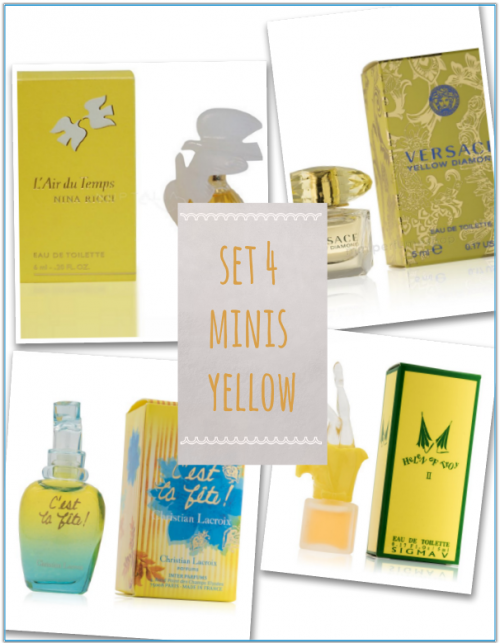 set 4 mini perfumes yellow
