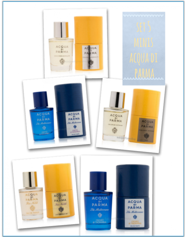 Set 5 mini Acqua di parma